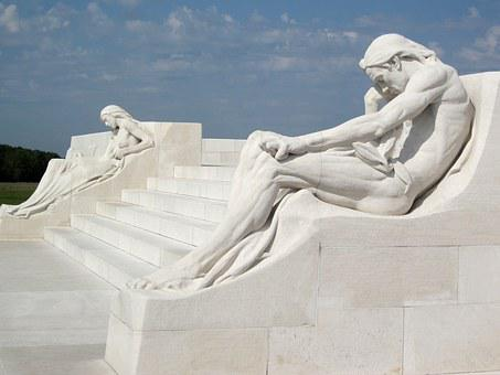 Vimy Monument, Sculpture, Mourners, Vimy Ridge, France