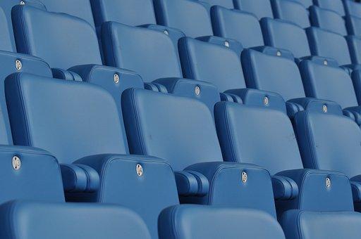 Seats, Blue, Stadium, Seating, Modern, Furniture