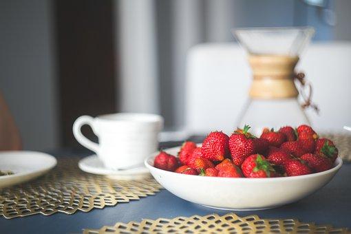 Strawberries, Breakfast, Fruit, Food, Strawberry, Berry