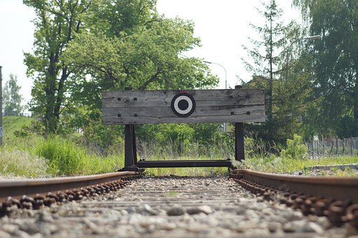 Buffer Stop, End Of Track, Seemed, Track, Railway