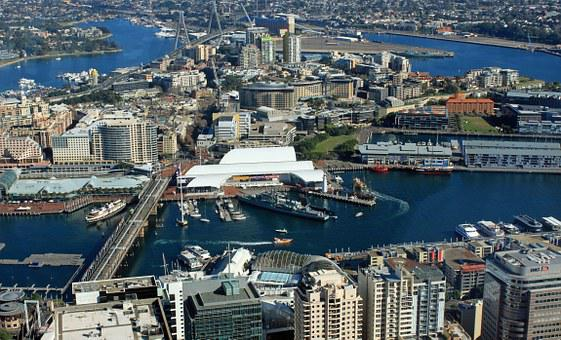 Sydney, Darling Harbour, Port, From Above, City View