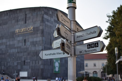 Shield, Direction, Vienna, Mq, Museumsquartier, Arrow