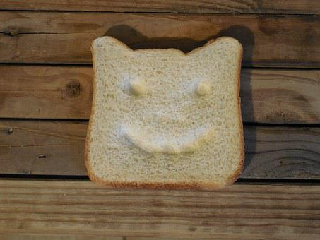Bread, Slice, Happy Face, Food, Healthy, Loaf, Wheat