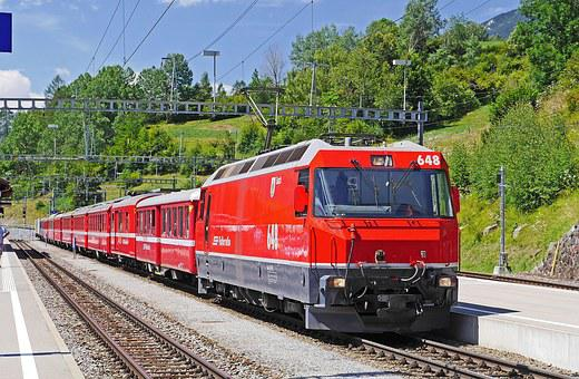 Switzerland, Rhaetian Railways, Filisur
