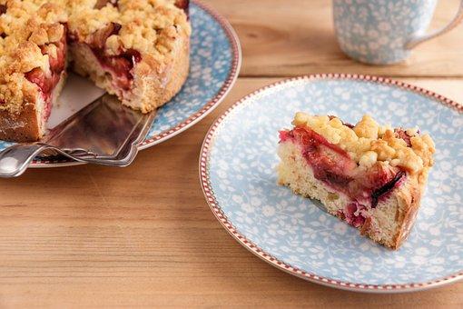 Cake, Plum Cake, Streusel Cake, Bake, Homemade