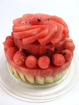 Watermelon, Cake, Summer, Birthday, Fruit, Food, Suites