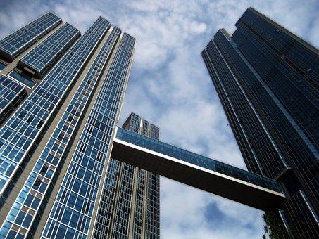 Skyscrapers, Seoul, Upward, Lookup, Trio, Three
