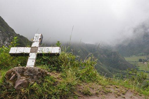 Ecuador, Pululahua, Crater, Cruz, Mountain, Landscape