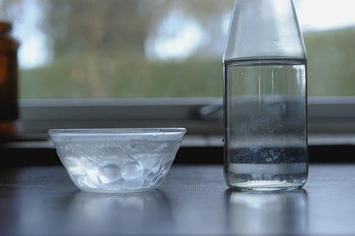 Water, Sharing, Drop, Bowl And Bottle