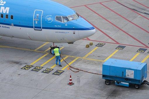 Schiphol, Klm, Plane, Airport, Blue, Royal, Landing