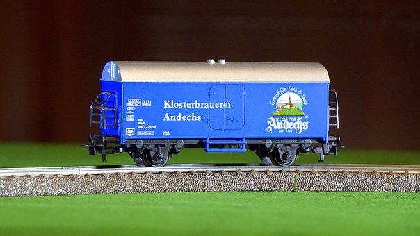 Wagon, Train, Transport, Railway, Blue, German, Rails