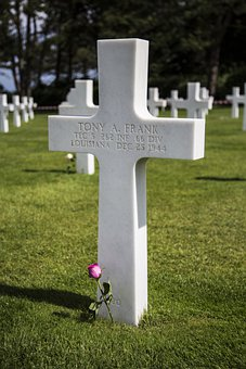 Rest In Piece, Grave, Wwii, American Cemetery, France