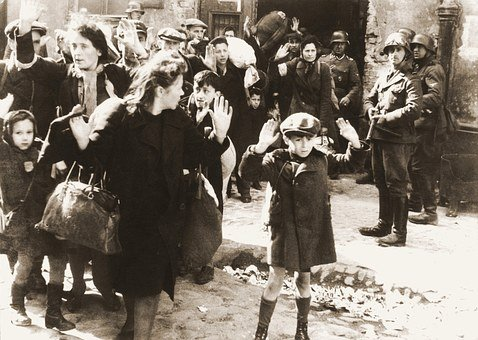 Ghetto, Warsaw, Fear, Child, Armed, Hands Up