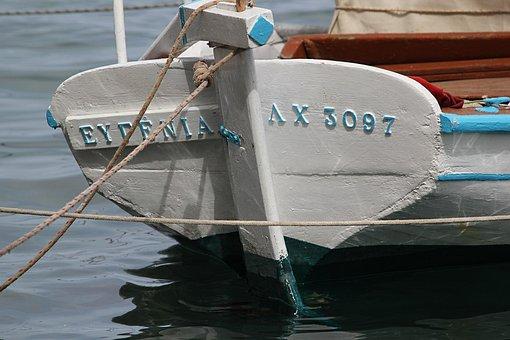 Fishing Boat, Boat, Eugenia, Chios, Greece, Summer