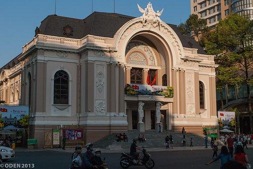 Vietnam, Ho Chi Minh City, Saigon, Municipal Theatre