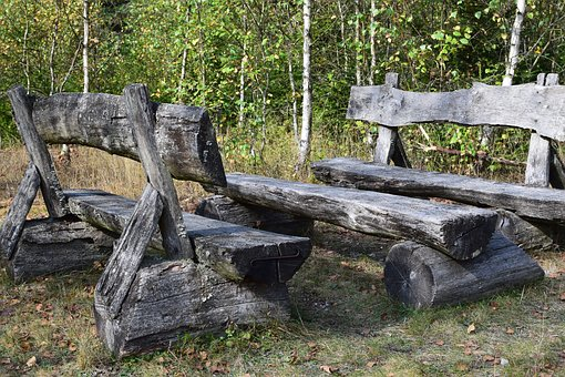 Wooden Bench, Resting Place, Bench, Bank, Nature, Rest
