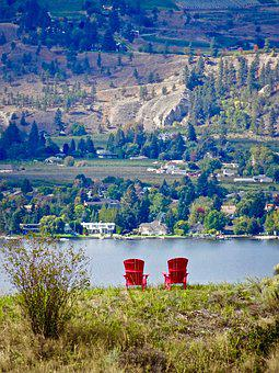Chairs, Vantage, View, Point, Lookout, Landscape, Seat