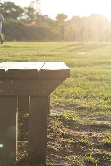 Park, Banking, Grass, Seat, Plaza, Garden, Light
