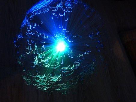 Lamp, Ufolampe, Long Exposure, Movement, Lighting