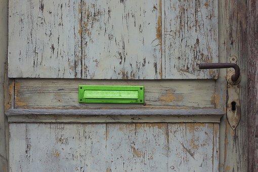 Door, Mailbox, Old, Wood, Wooden Door, Antique