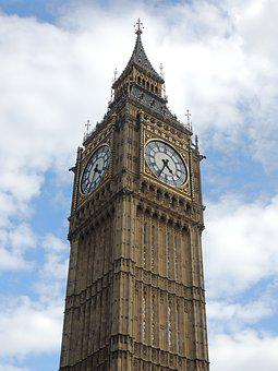 Big Ben, London, Watch, Sky, Architecture, Height