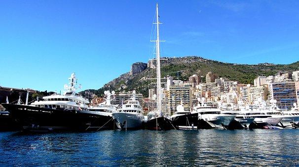 Monaco, Yacht, Show, Marina, Mediterranean, Sailing
