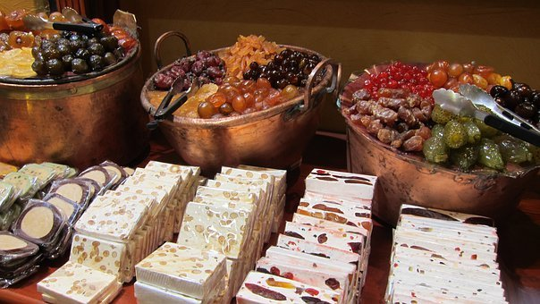 Candy Store, Nougat, Sweets, Sugar, Candy, French