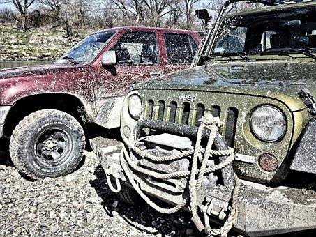 Jeep, Off Road, Mud, 4 X 4, Jeep Wrangler, Toyota, Tire