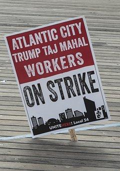 Atlantic City, New Jersey, Taj Mahal, Trump, Strike