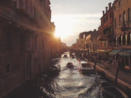 Canal, Venice, Italy, Architecture, Water, Boat