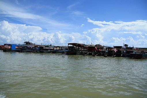 Cambodia, Phnom Penh, Lake, Cloud, Sky, Travel, Explore