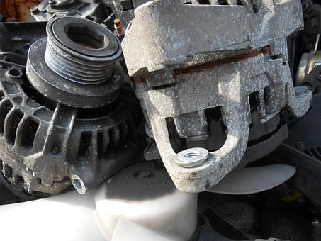 Alternator, Scrap, Auto Parts, Grey, Elv, Car