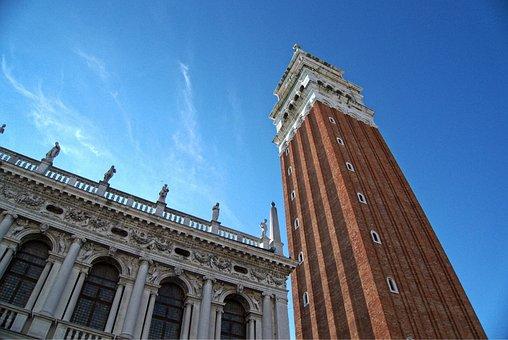 Venice, Campanile, Marco, Marks, San, Tower, Landmark