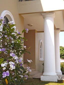 Honduras, Home, House Entrance, Porch, Columns, Villa