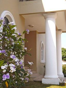 Honduras, Home, House Entrance, Porch, Columns, Villa