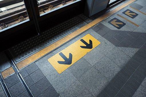 Entrance, Exit, Arrow, Signs, The Navigation, Travel
