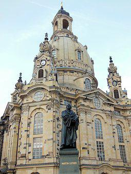 Dresden, Frauenkirche, Luther, Germany, Architecture