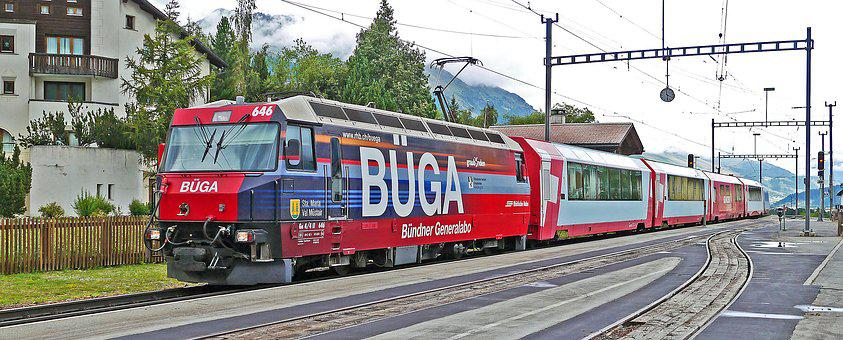 Glacier Express, Rhaetian Railways, Engadin
