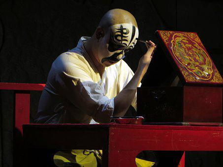 Beijing, Opera, Mask, Make Up, Male, Theatre, Actor