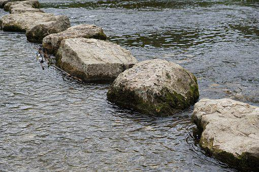 Danube, River, Waters, Water, Germany, Stones