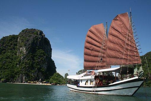 Halong Bay, Ship, Ocean, Holiday, Summer, Vacation, Bay