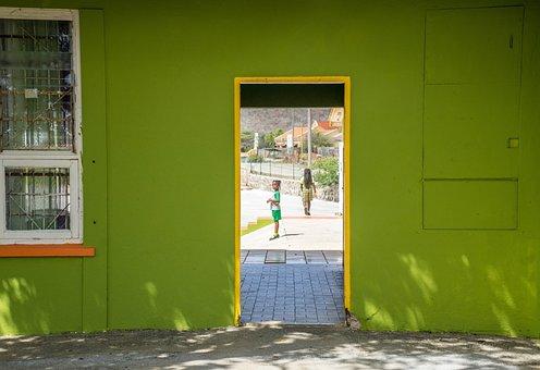 School, Curacao, Doorway, Student, Caribbean, Tropical