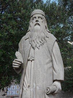 Scholar, Hermit, Statue, Fig, Man, Sculpture