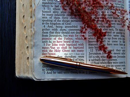 Bible, Verse, God, Pen, Holy Ghost, Holy Spirit, Text