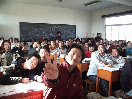 Classroom, Students, School, Class, Learning, Young