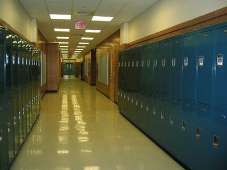 School, Lockers, Hallway, High School, Education