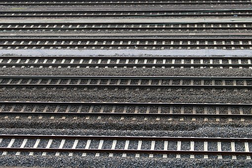 Gleise, Train Tracks, Railway, Gravel, Track Bed