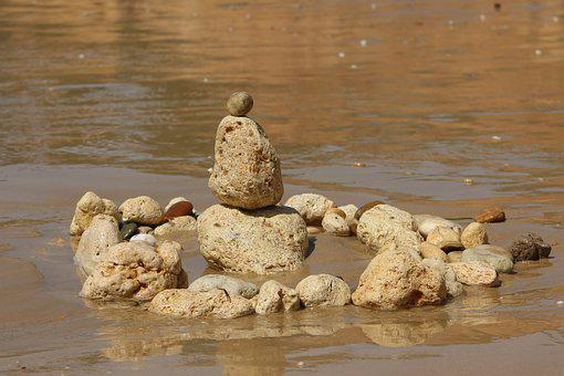 Construction, Stone, Art, Beach, Work Of Art, Statue