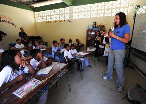 School, Classroom, Boys, Girls, Students, Teacher