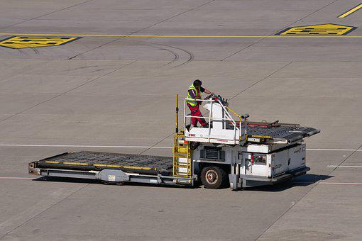Special-purpose Vehicle, Airport, Tarmac, Work, Tractor